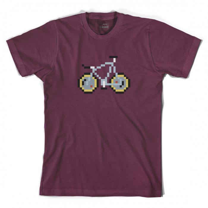 Pixel Bike 'Laser' Bordeaux T-Shirt